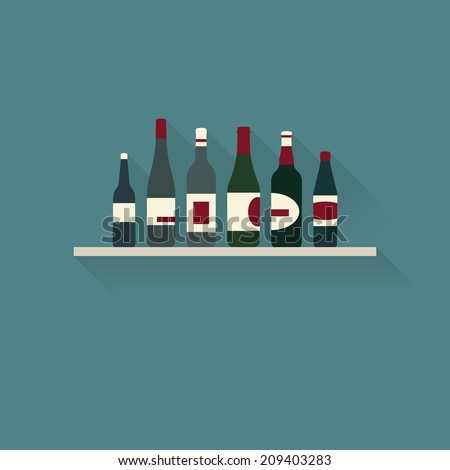 bottles collection  flat vector