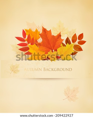 retro autumn background with