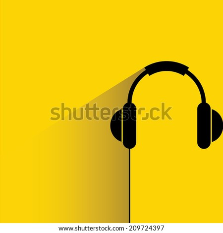 headphone in yellow background