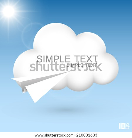 air cloud vector illustration
