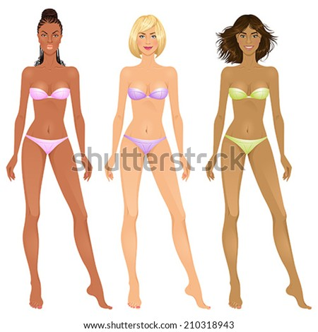 paper dolls  beautiful young