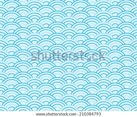 blue wave vector seamless