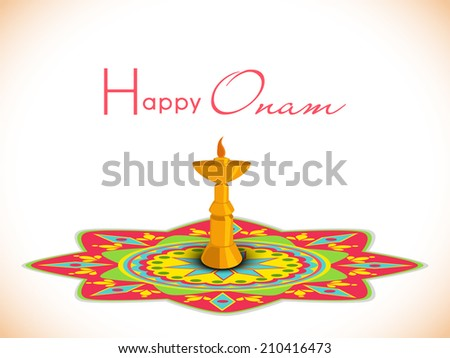 golden oil lamp on floral