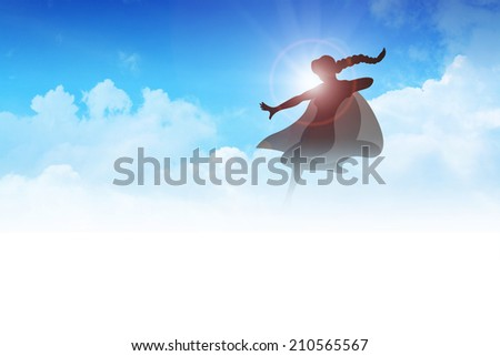 silhouette of a female figure