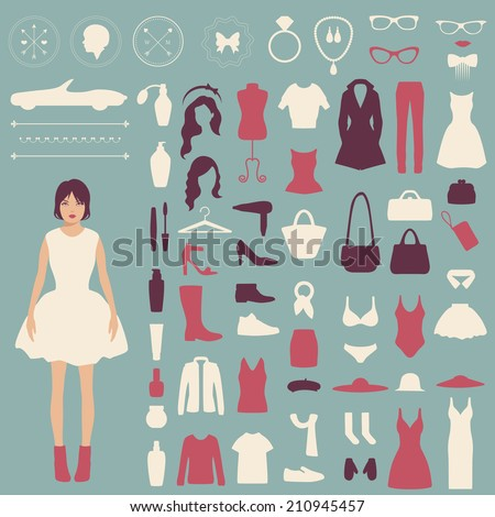 fashion vector icons