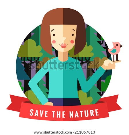 save the nature vector card and