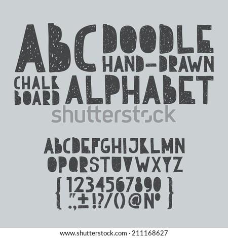 hand draw doodle abc  alphabet