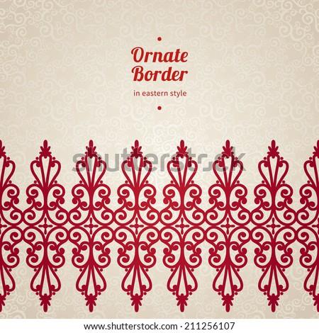 vector seamless border in