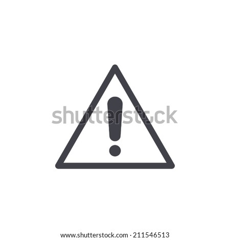 exclamation sign icon vector