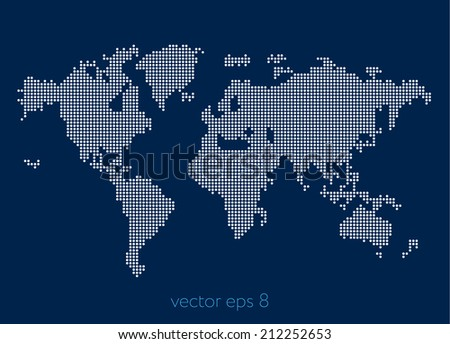 abstract world map of white