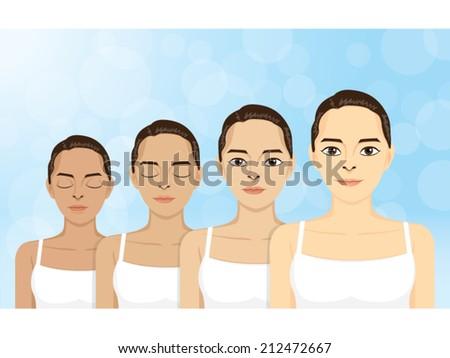 vector women in step skin
