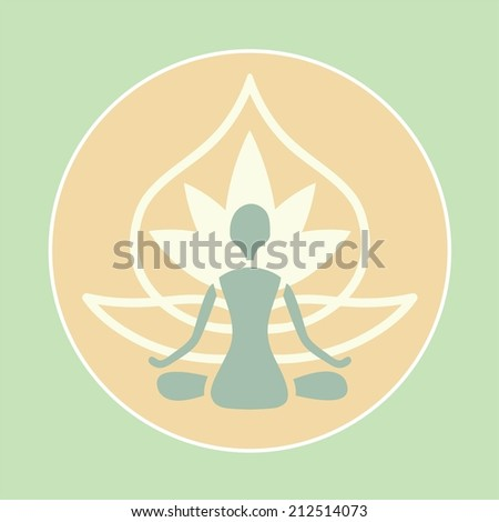 emblem of man in lotus position