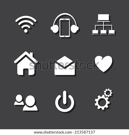 set of social network icons