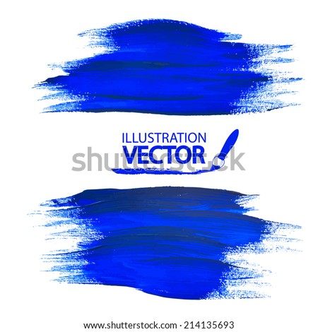 blue paint strokes vector