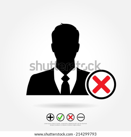 businessman icon with cross