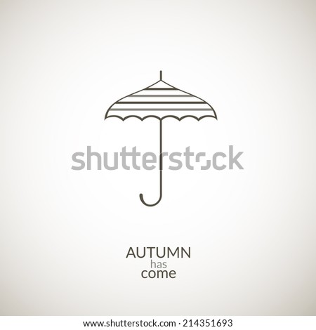 umbrella vector icon  contour