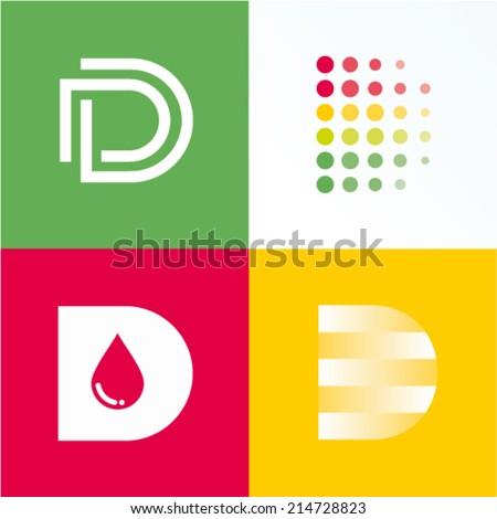 vector illustration letter d set
