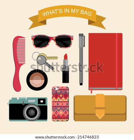 vector image content of woman's