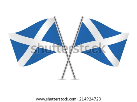 scottish flags vector
