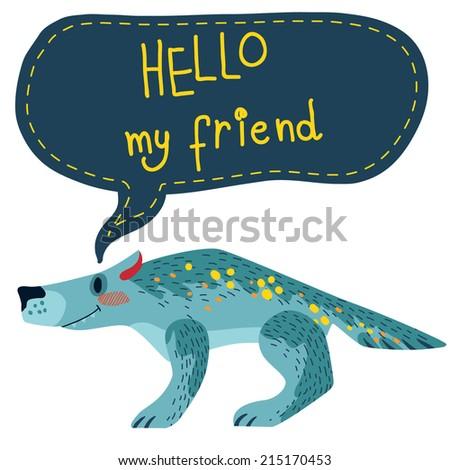 cute vector wolf