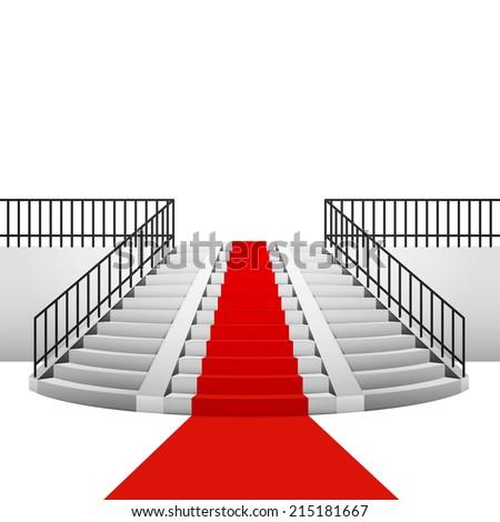 red carpet on circular