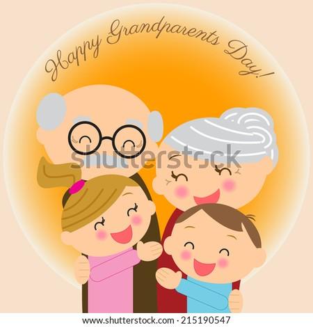 illustration  for grandparents'