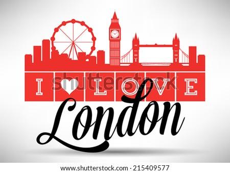 i love london typography design