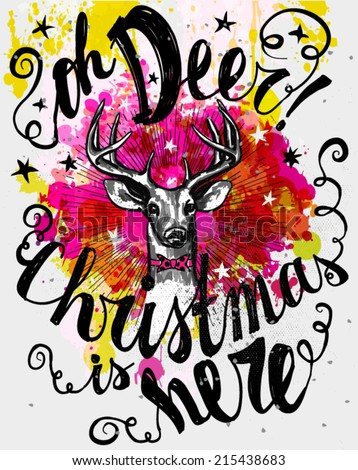 christmas poster   whimsical