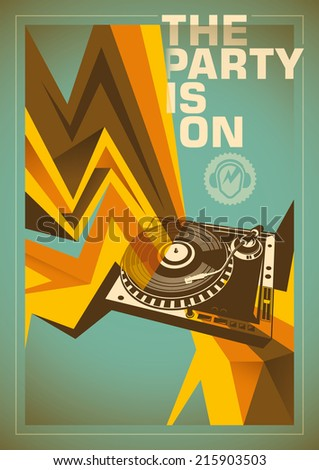 abstract party poster vector