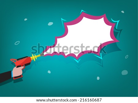 retro laser gun zapper vector