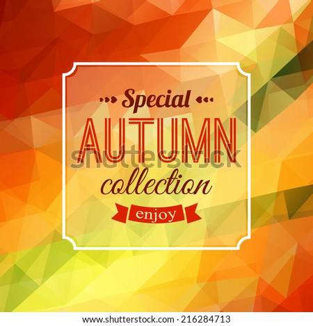 autumn sale typographical