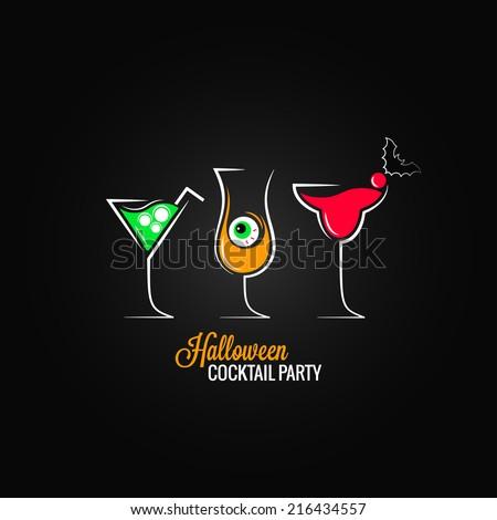 halloween party cocktails menu