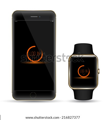 black gold smartphone and smart