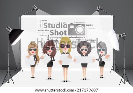 woman posing fashion in