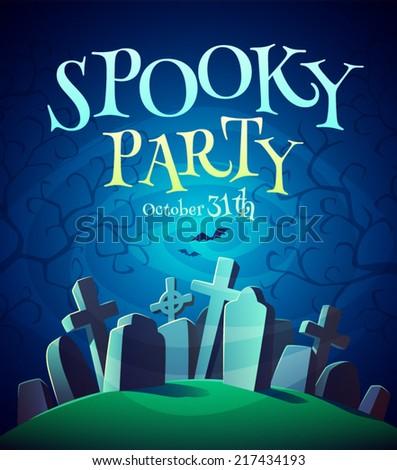 spooky graveyard halloween