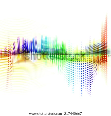 abstract colorful wave form