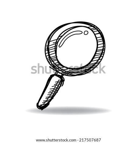 search icon with ink hand drawn