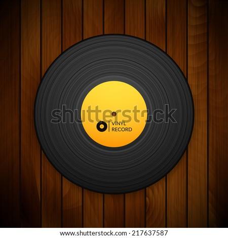 black vintage vinyl record