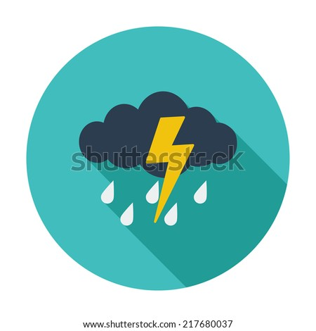 storm single flat color icon