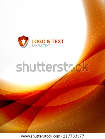 fire orange abstract swirl