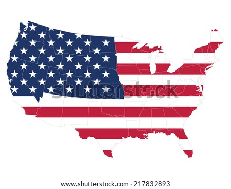 united states map of america