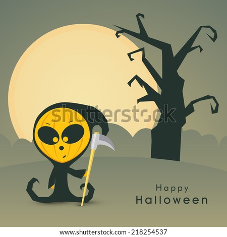 scary ghost holding a weapon