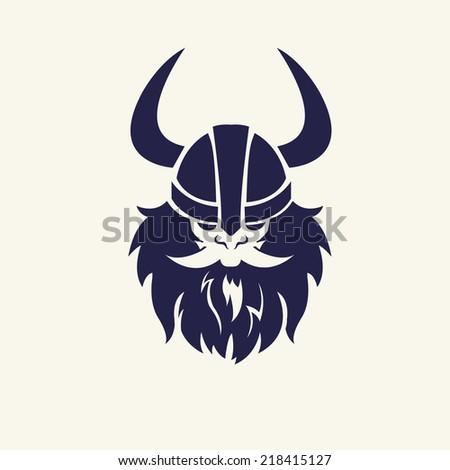 ancient viking head emblem for