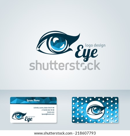 woman eye vector logo design