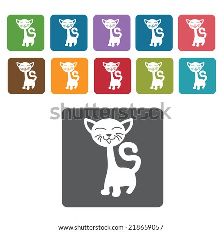 long neck cat icon cat icon