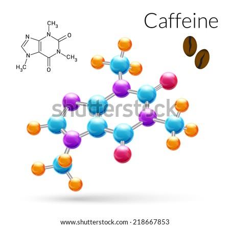 caffeine 3d molecule chemical