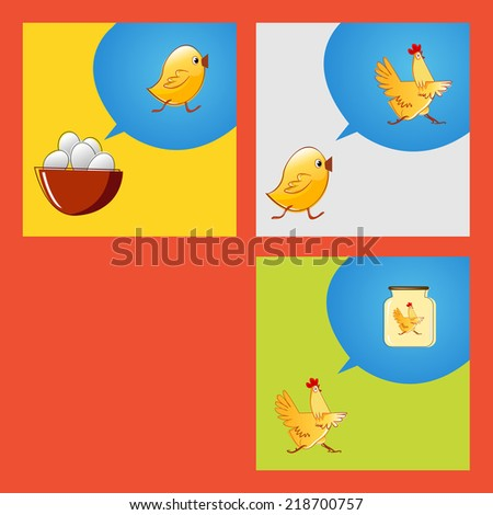 from egg to food vector sketch