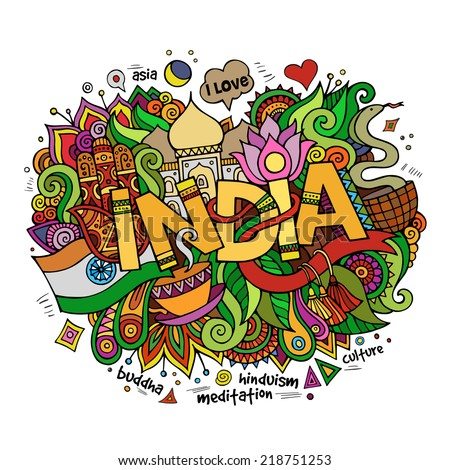 india hand lettering and