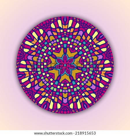 round mosaic background vector