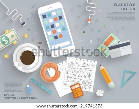 flat style modern design